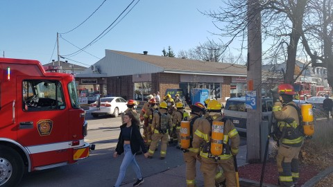 Alerte incendie sur l'Avenue de la Gare à Montmagny