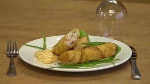 Chronique culinaire Magasin Coop IGA - Roulade de goberge et crevettes à la crème de ciboulette - 22 avril 2021