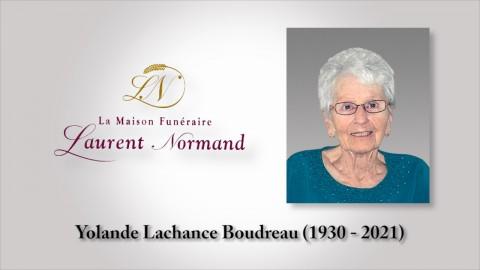 Yolande Lachance Boudreau (1930 - 2021)