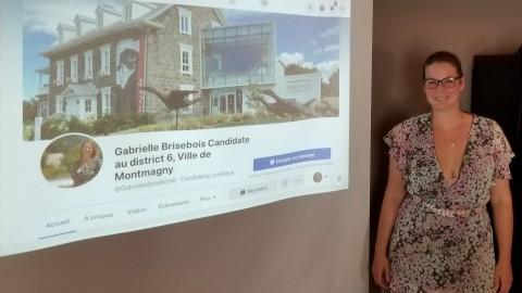 Gabrielle Brisebois lance sa campagne électorale