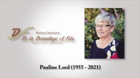 Pauline Lord (1955 - 2021)