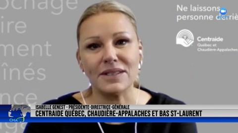 Entrevue - Isabelle Genest, prés.-dir.-gén. de Centraide Québec, Chaudière-Appalaches et Bas-St-Laurent - 4 octobre 2021