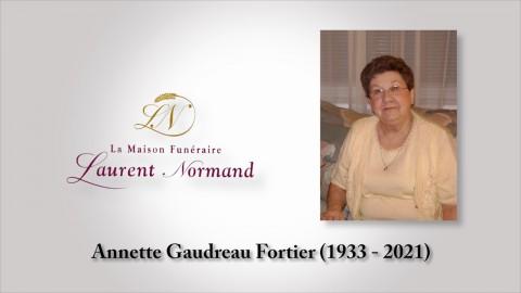 Annette Gaudreau Fortier (1933 - 2021)