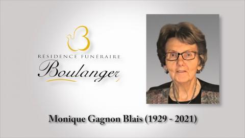 Monique Gagnon Blais (1929 - 2021)