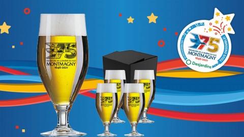Macaron et verre à bière officiels des Fêtes du 375e : Achetez-les d'ici le 15 janvier pour participer au premier tirage