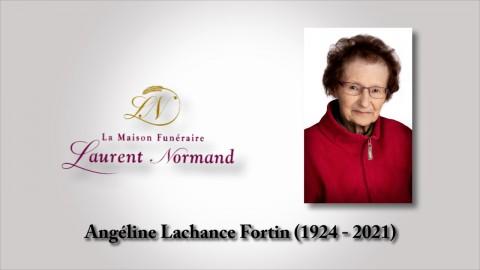 Angéline Lachance Fortin (1924 - 2021)