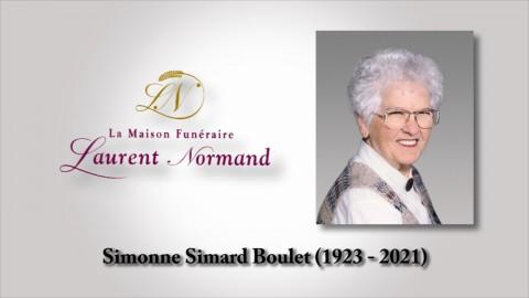 Simonne Simard Boulet (1923 - 2021)
