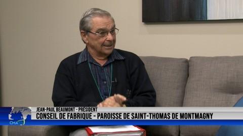 Entrevue - Jean-Paul Beaumont, président du Conseil de fabrique de la paroisse St-Thomas - 21 octobre 2021