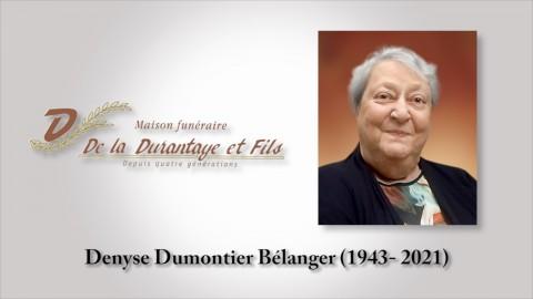 Denyse Dumontier Bélanger (1943 - 2021)