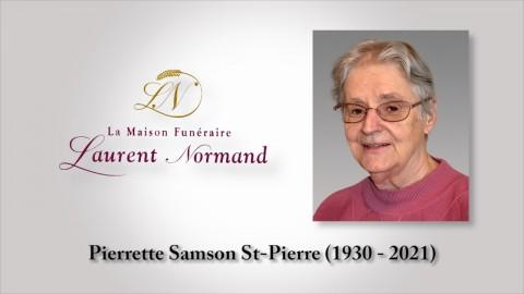 Pierrette Samson St-Pierre (1930 - 2021)