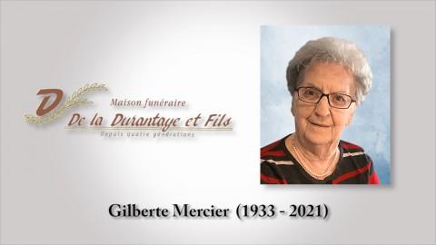 Gilberte Mercier (1933 - 2021)