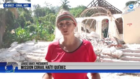 Entrevue - Louise Soucy, EN DIRECT de Corail Haïti - 8 septembre 2021