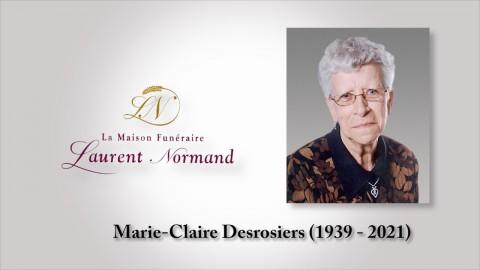 Marie-Claire Desrosiers (1939 - 2021)